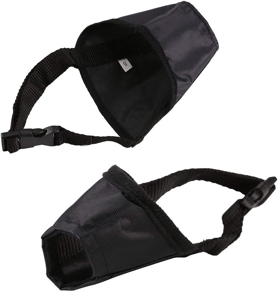 Coldshine Black Breathable Dog Pet Safety Mouth Cover Muzzle Adjustable Anti Bite Bark Chew