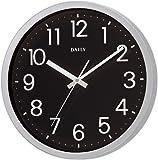 リズム時計 クォーツ 掛け時計 アナログ フラットフェイスDN 見やすい オフィス モデル 黒 DAILY (デイリー) 4KGA06DN02