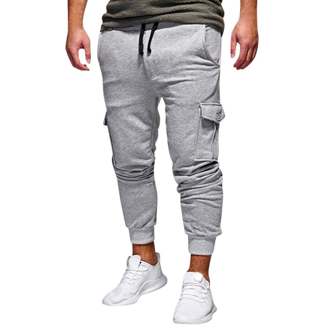 Realdo Hot!Clearance Sale Fashion Men's Sport Fitness Casual Loose Sweatpants Drawstring Jogger Pant(XXX-Large,Grey)