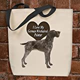 I Love My German Wirehaired Pointer - Tote Bag