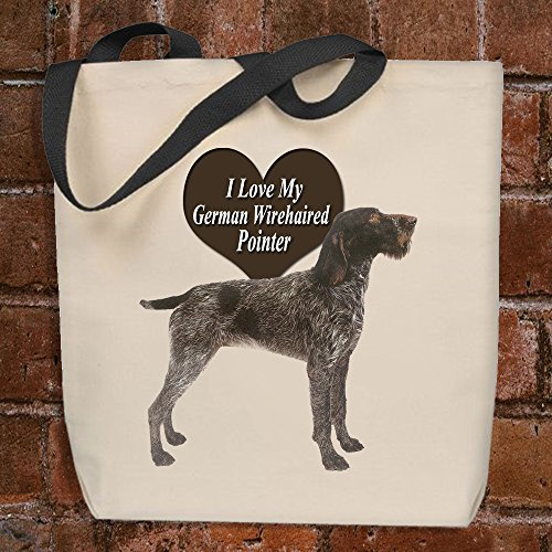 I Love My German Wirehaired Pointer - Tote Bag by Strum Hollow