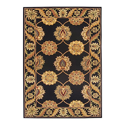 DecorShore Bella Palacio Area Rug Collection, Lavish 5'x7' Area Rug, Hand-Tufted, 100% Wool Fiber, Luxury Design, Extra Thick & Plush Flat Loop Pile (Pena -