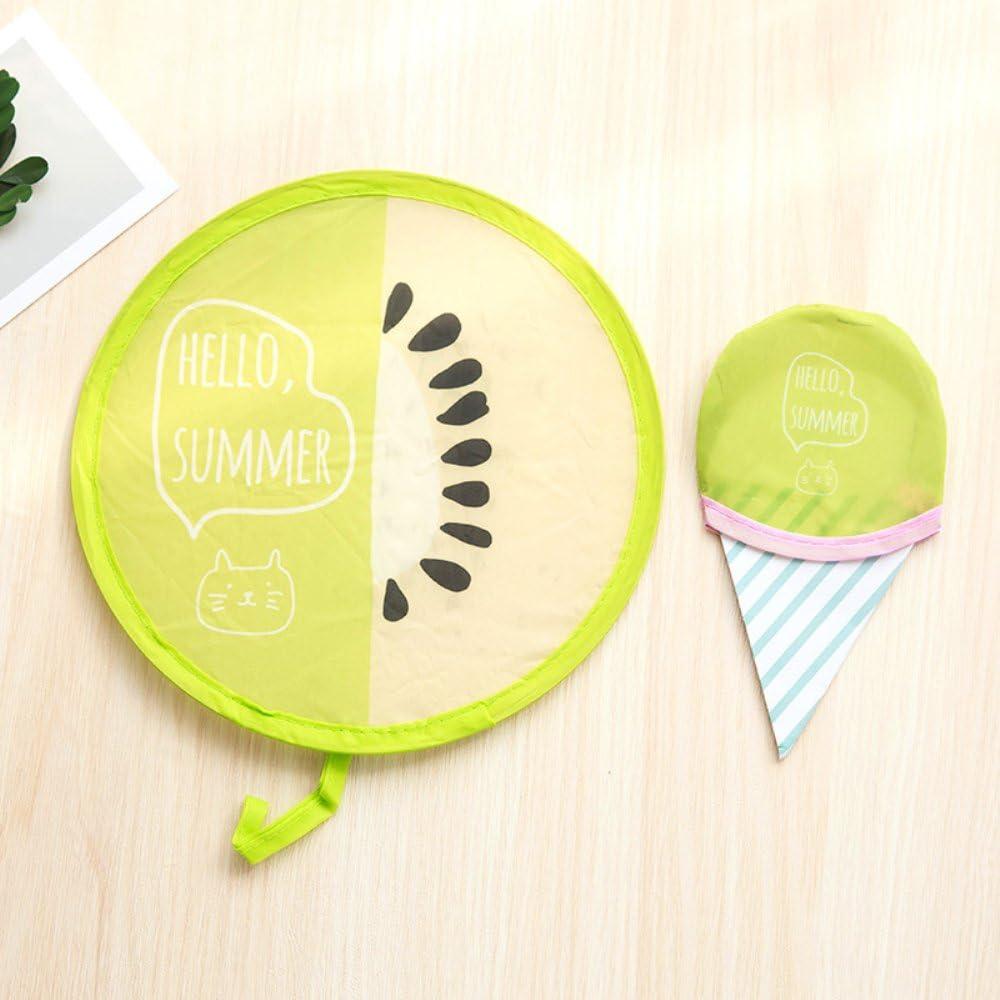 Polyester 20 cm tragbar Faltbar Zusammenklappbar 01 WANGLAI Fashion H/ängef/ächer Runde Form Nylon f/ür den Sommer