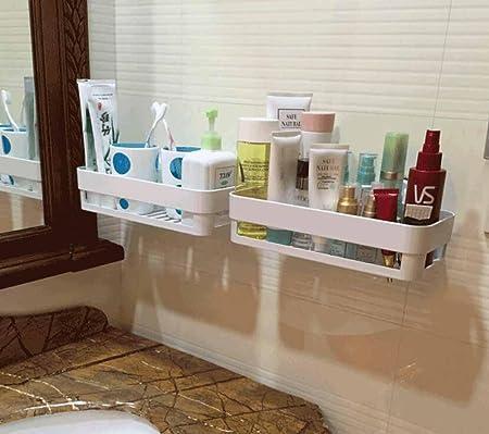 Bathroom racks SSBY Aspirador para baño Minimalista estantes, Estante del almacenaje de Pared Maquillaje tocador: Amazon.es: Hogar