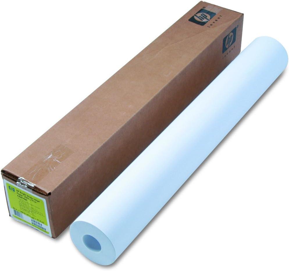 "HP Bright White Inkjet Paper 4.7 mil, 24 lb, 90 g/m2, 2"" Core, 1 roll/carton (36"" x 300')"