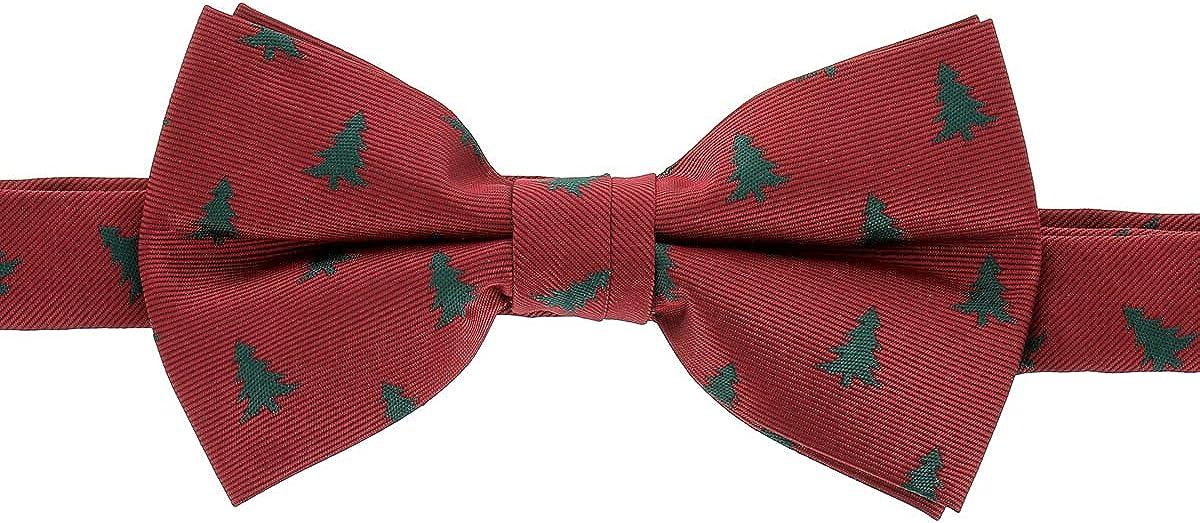 cravateSlim Navidad Pajarita Arbol de Navidad Roja y Verde: Amazon ...