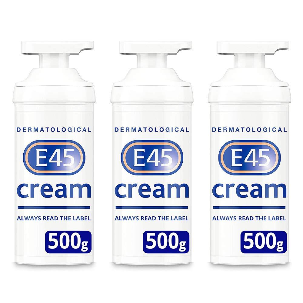 E45 Cream Pump - 500g Triple Pack