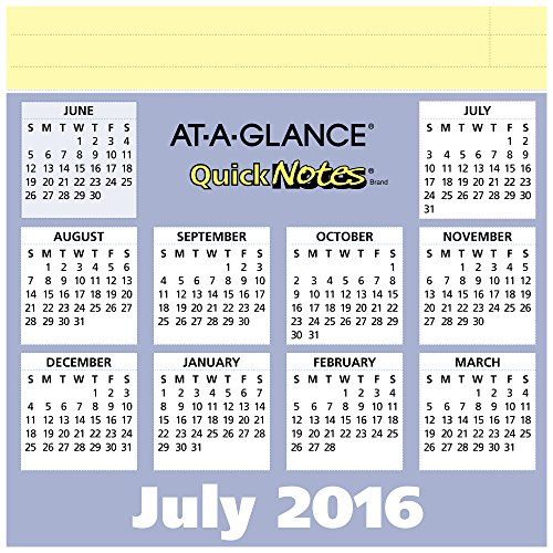 Year Calendar Buy : At a glance academic year monthly desk pad calendar july