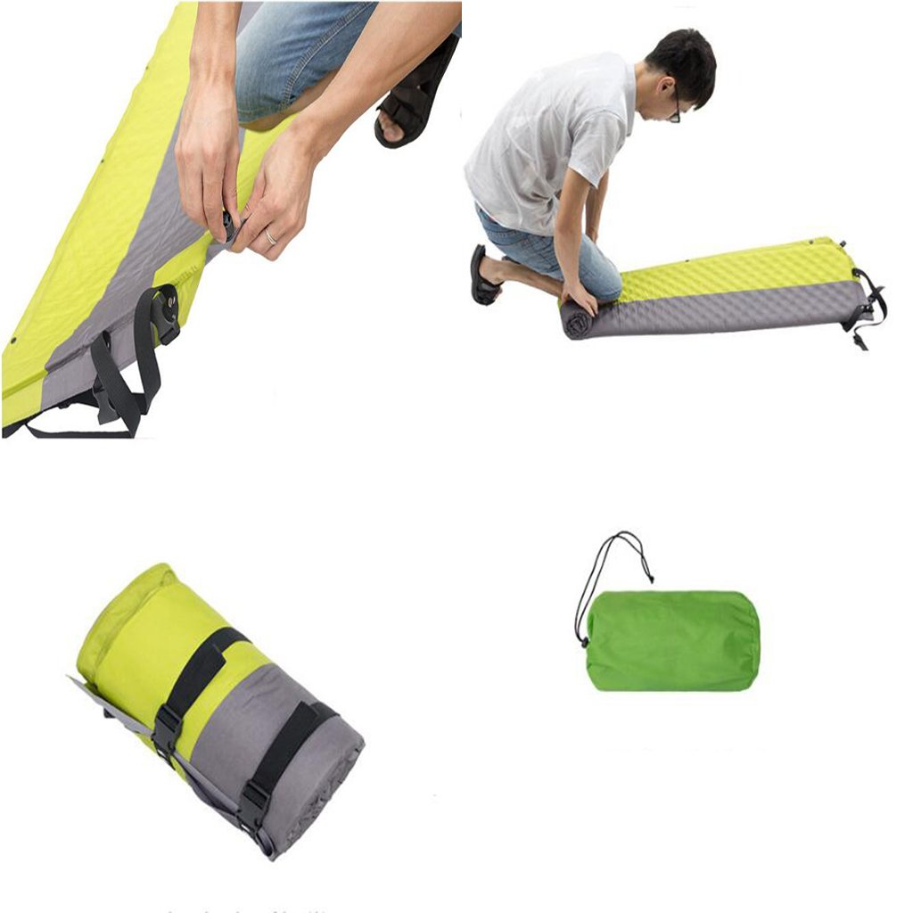 KIMSAI Cojín hinchable para camping al aire libre, camping ...