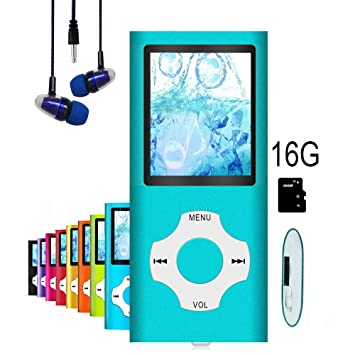 MP3 Player / MP4 Player, Hotechs MP3 Music Player with 16GB Memory SD card  Slim Classic Digital LCD 1 82'' Screen MINI USB Port with FM Radio, Voice