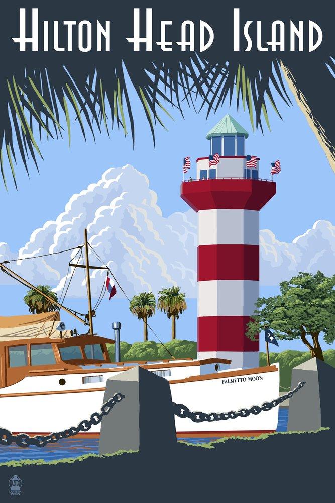 【格安saleスタート】 Hilton Head Sign Island、SC – Harbour 54 Metal Town灯台 12 x 18 Metal Sign LANT-42460-12x18M B017EA0634 36 x 54 Giclee Print 36 x 54 Giclee Print, win-to-winセレクトショップ:a1093c31 --- mcrisartesanato.com.br