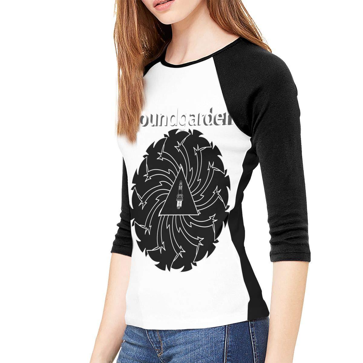 FankTasf Soundgarden Female Slim 3//4 Sleeve Casual Fashion Round Neck Top T-Shirt