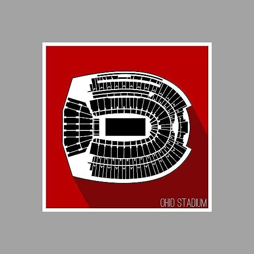 Amazon Com Artsycanvas Ohio State Ohio Stadium College