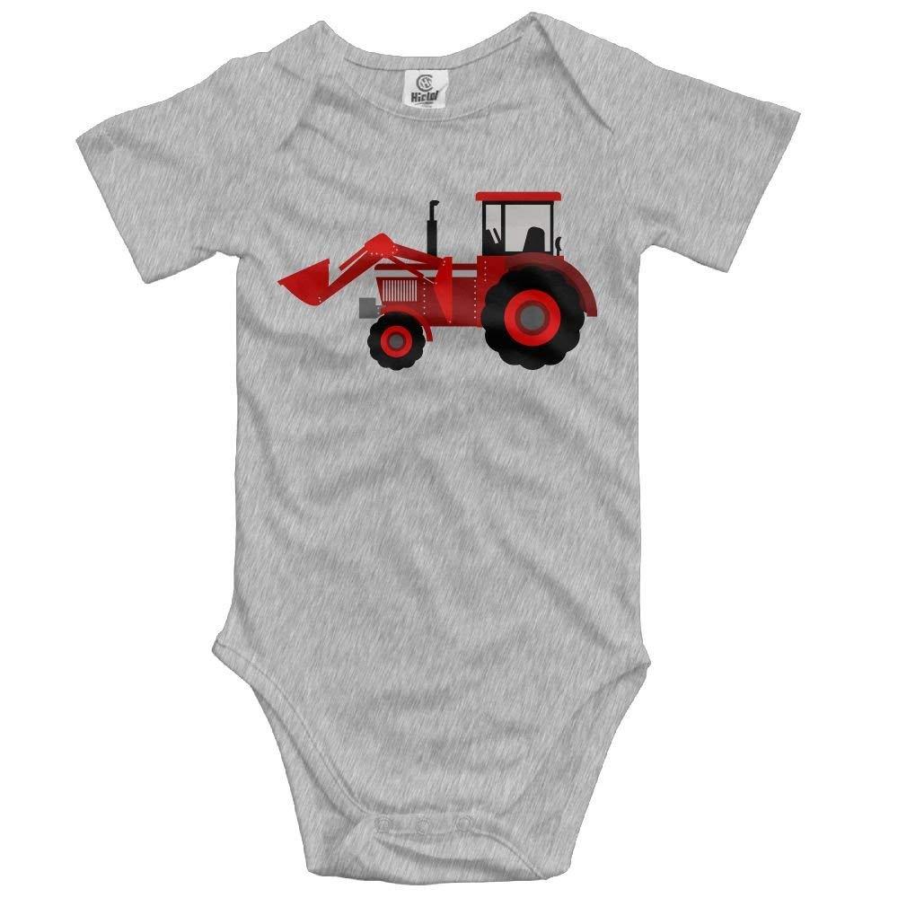 booskaneews Farmer Tractor Newborn Baby Sleeveless Jumpsuit Romper