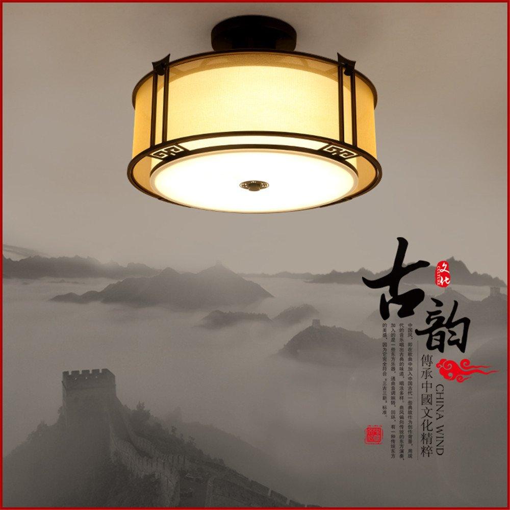 BRIGHTLLT Neue chinesische Deckenleuchte China wind stilvolles Wohnzimmer Beleuchtung LED warm Lampen antike Klassische Schlafzimmer LED, 430 mm Studie