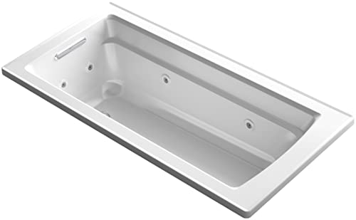 KOHLER K-1949-0 Archer Exocrylic Drop-In Whirlpool Bath