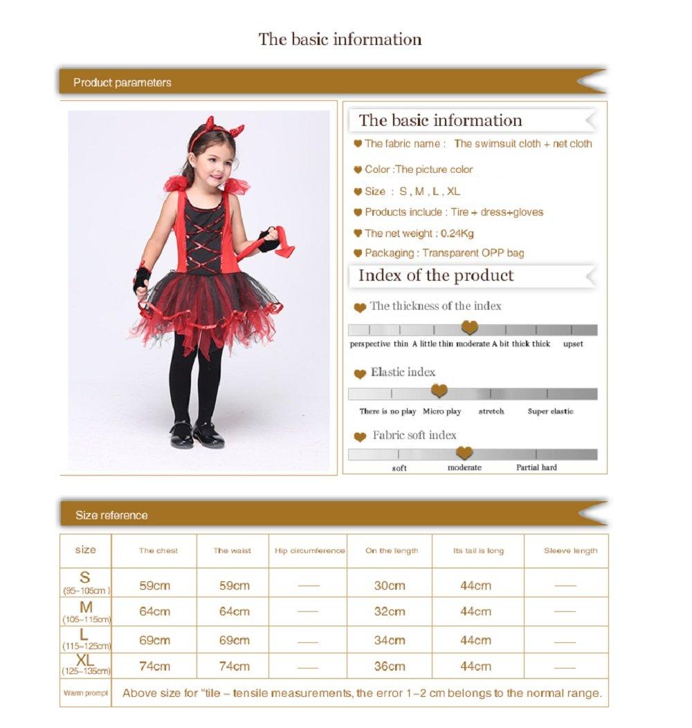 Girl's Halloween Cosplay Costume Suit Children's Dancewear Dancing Dress (Large) by KeepMoving (Image #2)