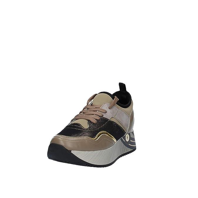 Gattinoni Woman Sport Shoe Calf PULaminated TaupeGold
