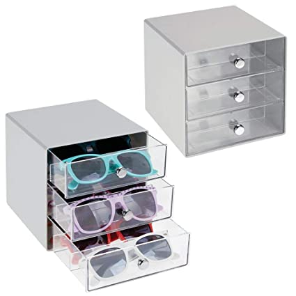 5bbfde4d9dcc mDesign Stackable Plastic Eye Glass Storage Organizer Box Holder for  Sunglasses