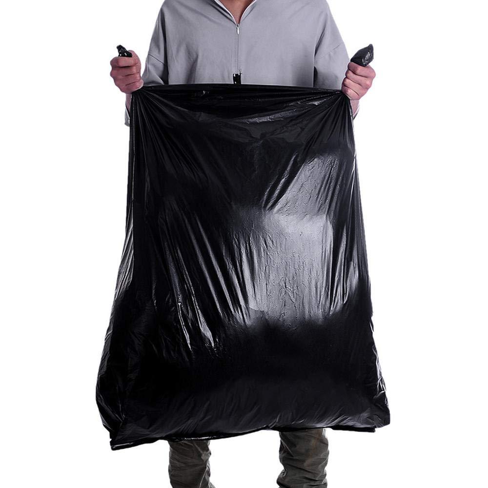Noir Super Grand Sac Poubelle yaogaochen Handy Bag -50L Sac Poubelle Ind/échirable Ouverture Large Super /Épais R/ésistant /À La D/échirure