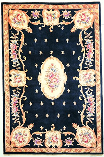KAS Oriental Rugs Ruby Collection Fleur-De-Lis Aubusson Area Rug, 30