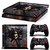 ZoomHit Ps4 Playstation 4 Console Skin Decal Sticker Skull Metal + 2 Controller Skins Set