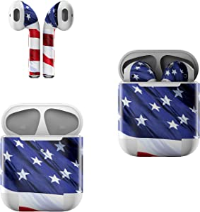 Skin Decals for Apple AirPods - Patriotic - Sticker Wrap Fits 1st and 2nd Generation
