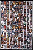 "Topps Wacky Packages 1979 Mint Uncut Sheet 132 Stickers 2 Complete Sets of #1 to #66 cards ""132 total"" in excellent condition"