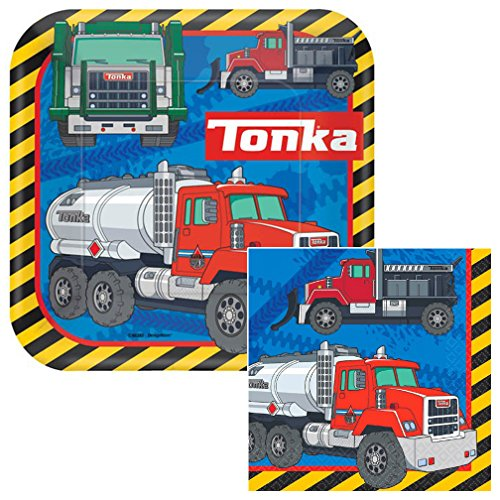 Tonka Lunch Napkins & Plates Party Kit for 8 by Amscan