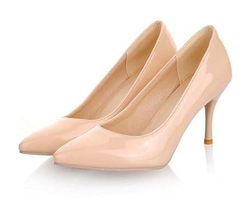 845c38a90dd hotrilicoc Big Size 34-45 Heels Women Pumps Thin Heel Classic White red  nede Beige