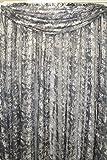 Luxury Leopard Shadow Stripe Sheer Scarf 40Wx216L Black Review