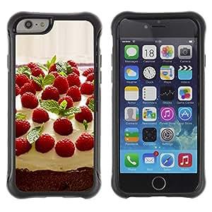 Suave TPU GEL Carcasa Funda Silicona Blando Estuche Caso de protección (para) Apple Iphone 6 / CECELL Phone case / / Fruit Macro Raspberry Cake /