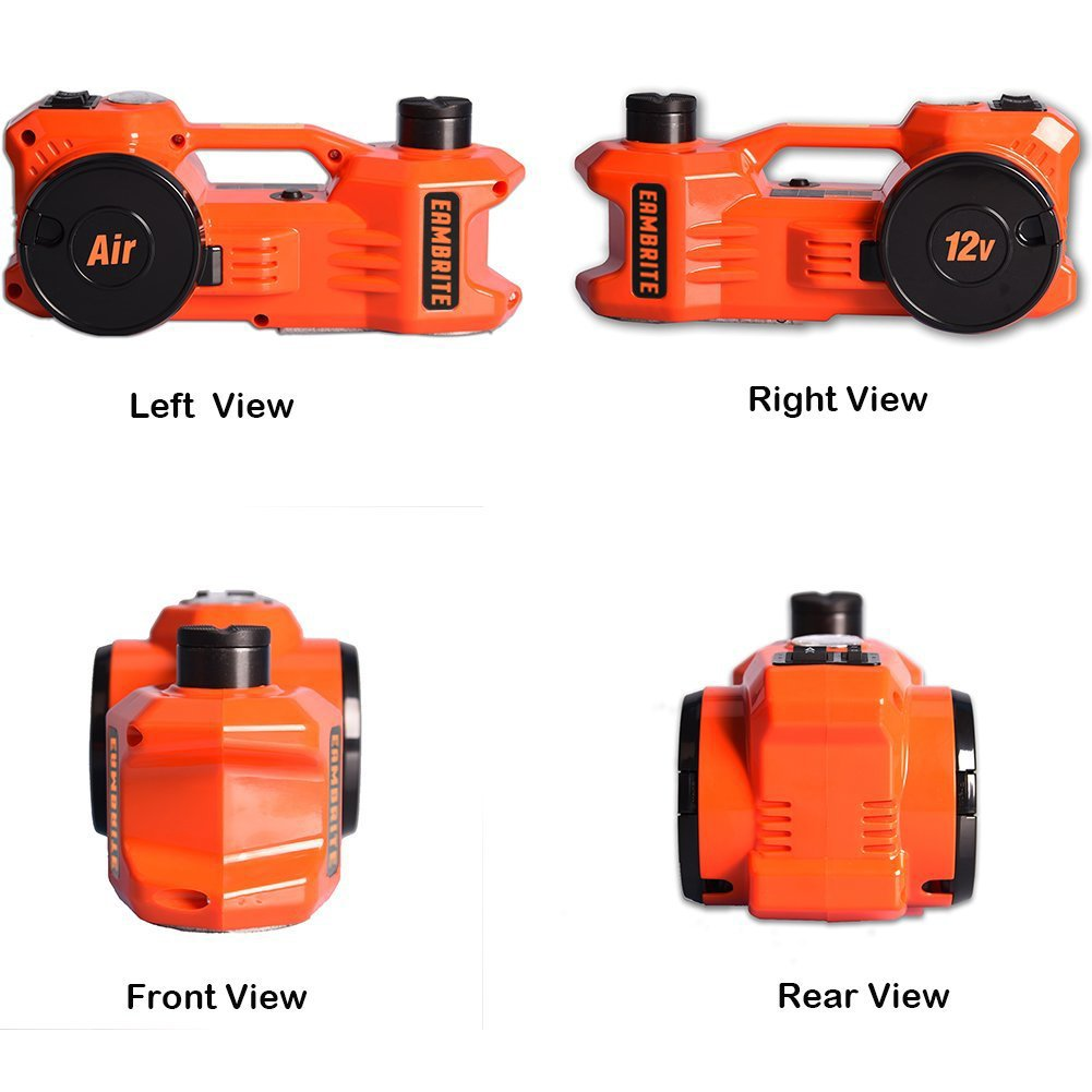 12V DC 1 Ton Electric Hydraulic Floor Jack Set with Impact Wrench For Car Use (6.1-17.1 inch, Orange) by EAMBRTE (Image #9)