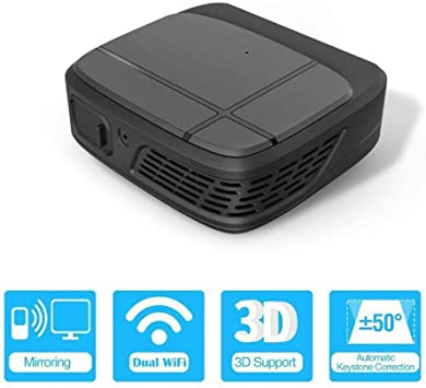 JiaDY Proyector Home Media Player Proyector de conexión HD Proyector LED Smart Dlp Mini proyector de Bolsillo WiFi Proyectores 3D 3300 lúmenes 1080P Full HD Home Theater TV Protable Beamer: Amazon.es: Electrónica