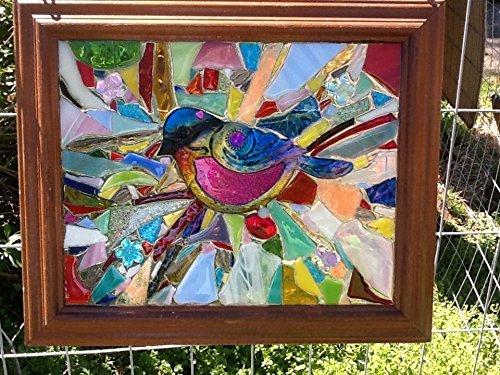 Stained Glass Bird Window Art Sun Catcher