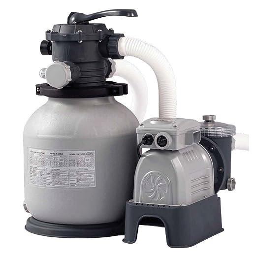 69 opinioni per Intex- Pompa di filtraggio a sabbia per piscine fuoriterra e interrate, 6.000