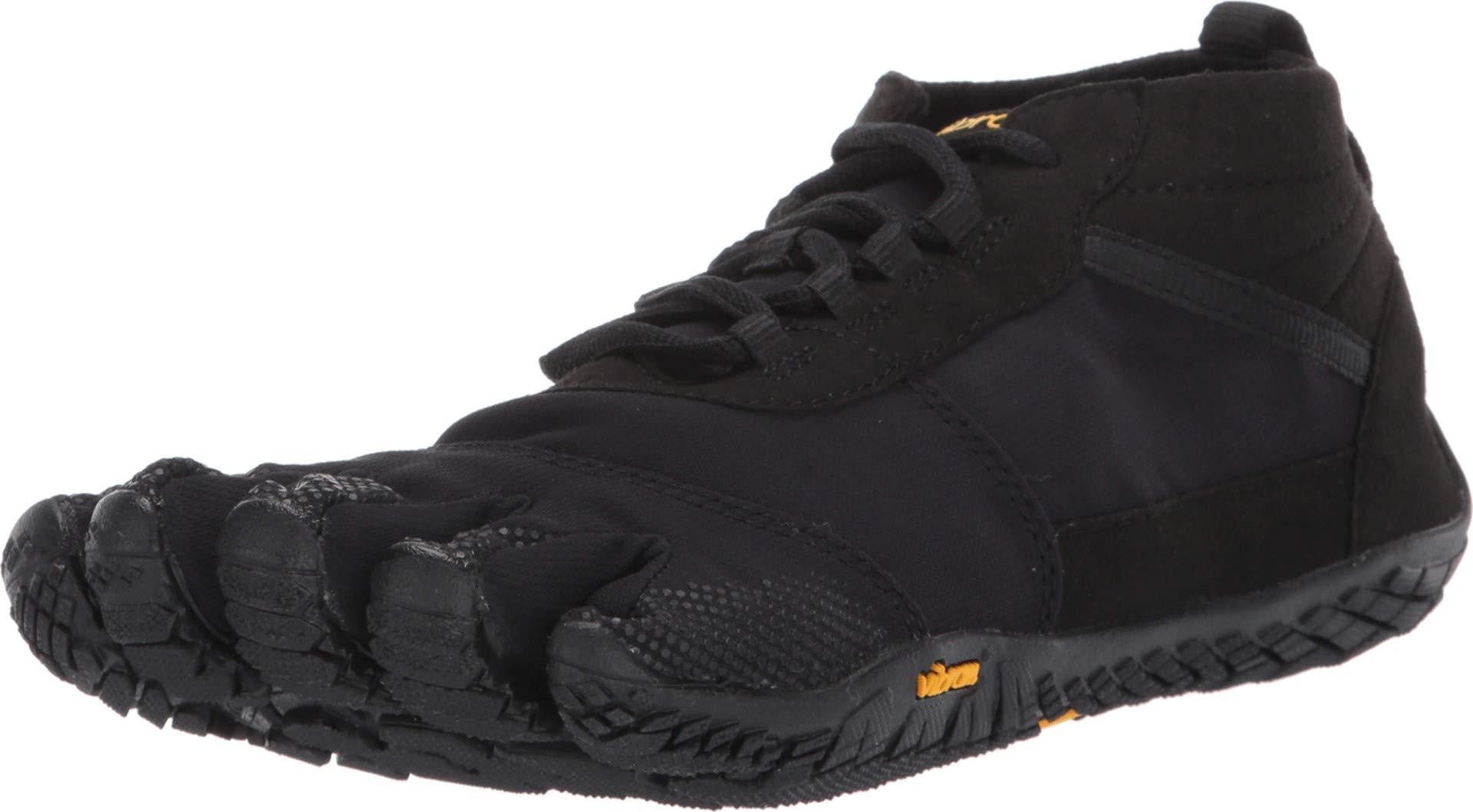 Vibram Five Fingers Women's V-Trek Trail Hiking Shoe (37 EU/7-7.5, Black/Black) by Vibram