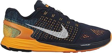 Nike Lunarglide 7 - Zapatillas de Running de Material Sintético para Hombre Azul Blau (Dark Obsidian/Summit White/Total Orange) 47: Amazon.es: Zapatos y complementos