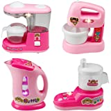 Spielzeug Küche Kleinkindküche Spiel Kinderkueche Kunststoff Kochset mit Sound fürKinder,4 pcs