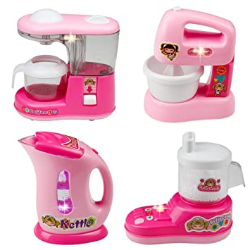 Bon Childrens Kitchen Appliances Kitchen Toy Set Role Play Kitchen Toys  Accessories Kids Kitchen Playset Pretend Play