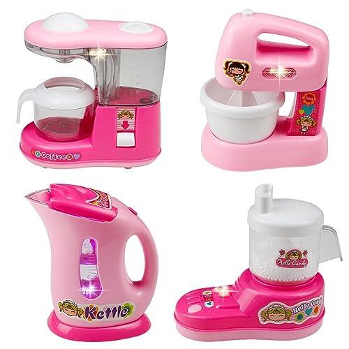 Jeu d'imitation Machines de cuisson Appareils Ménagers Set of 4 Cadeau Pour Enfants Garçons Filles