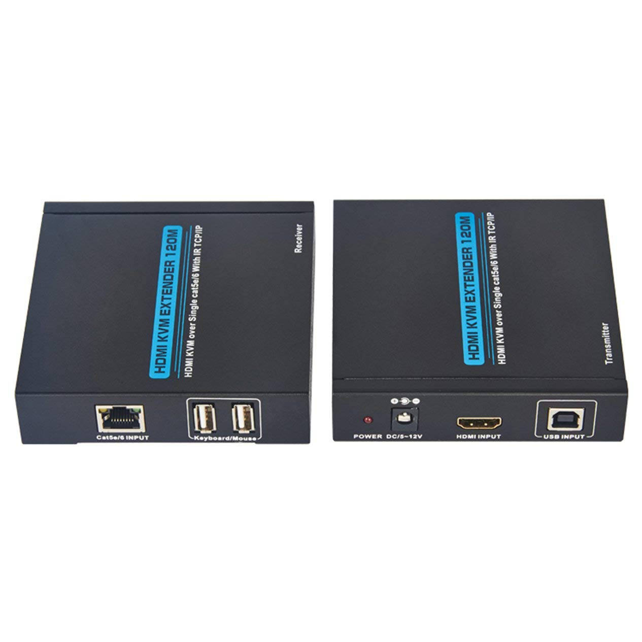 T-5120 120M HDMI Extender Over TCP/IP Single CAT5e/6 Cable Network LAN RJ45 HD with USB UK/US/EU
