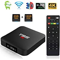 T95 S1 Android 7.1 TV BOX with Amlogic S905W Quad Core 2GB RAM 16GB ROM 4K Full HD Ethernet 2.4GHz WIFI HDMI 2.0 Media Player