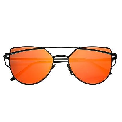 Modernas gafas de sol polarizadas, espejadas y reflectantes UV400 para mujer, lentes de estilo