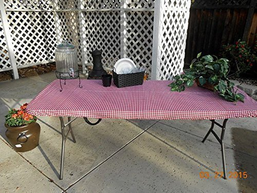 Amazon Com Custom Fitted Stay Put Table Cover Picnic Tablecloth For