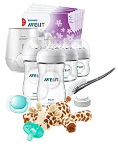 Philips AVENT Natural All in One Gift Set with Snuggle Giraffe, SCD205/08