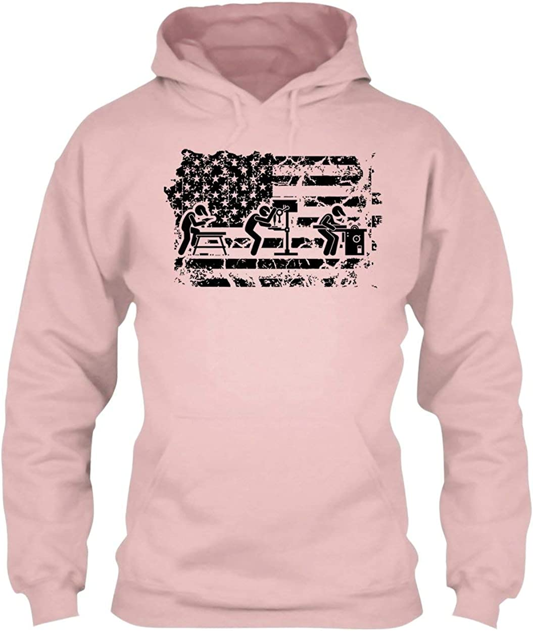 Shirt Woodworking Flag Tee Shirt Hoodies