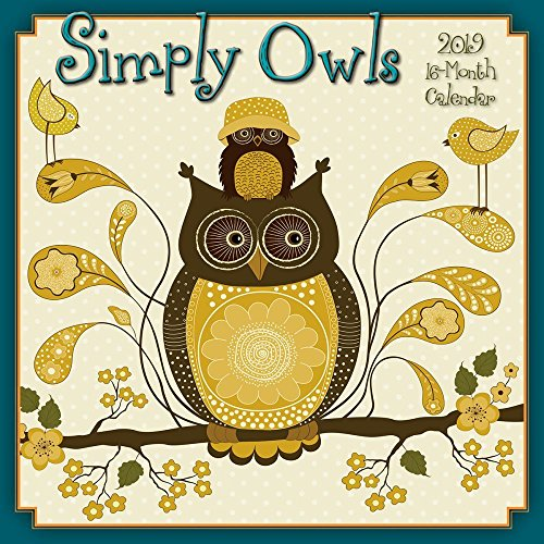 - Simply Owls 2019 Wall Calendar