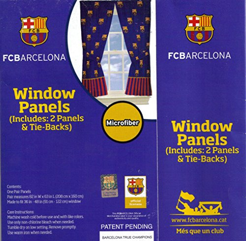 FC Barcelona FCB Window Panels Curtains Drapes Football Soccer