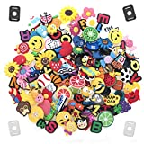 GOGO 600PCS Mixed PVC Shoe Charms + 20PCS Shoe Lace Adapters Crocs Jibbitz Shoes Silicone Wristbands